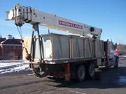 Back View of White HighLine Crane Truck